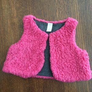 Other - 🆕 Pink Faux Fur Vest